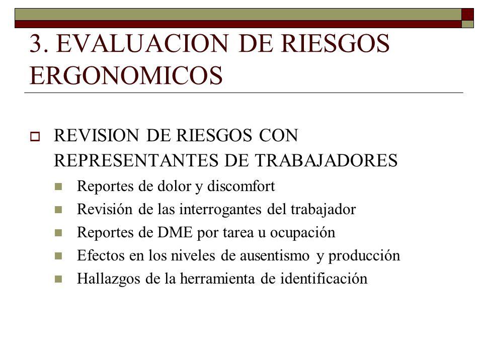 3. EVALUACION DE RIESGOS ERGONOMICOS
