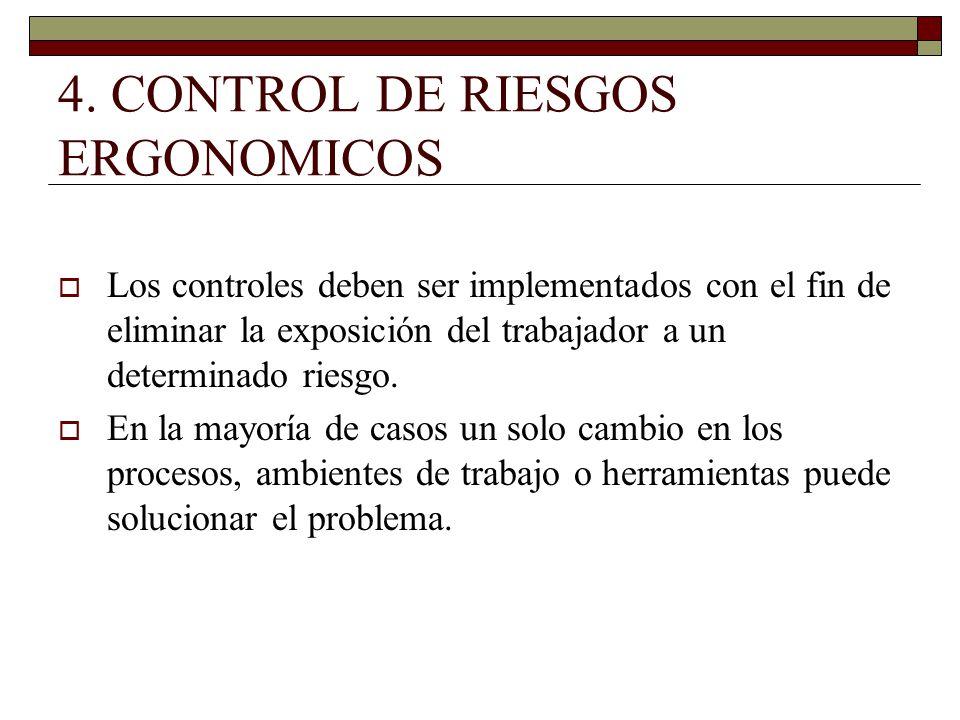 4. CONTROL DE RIESGOS ERGONOMICOS