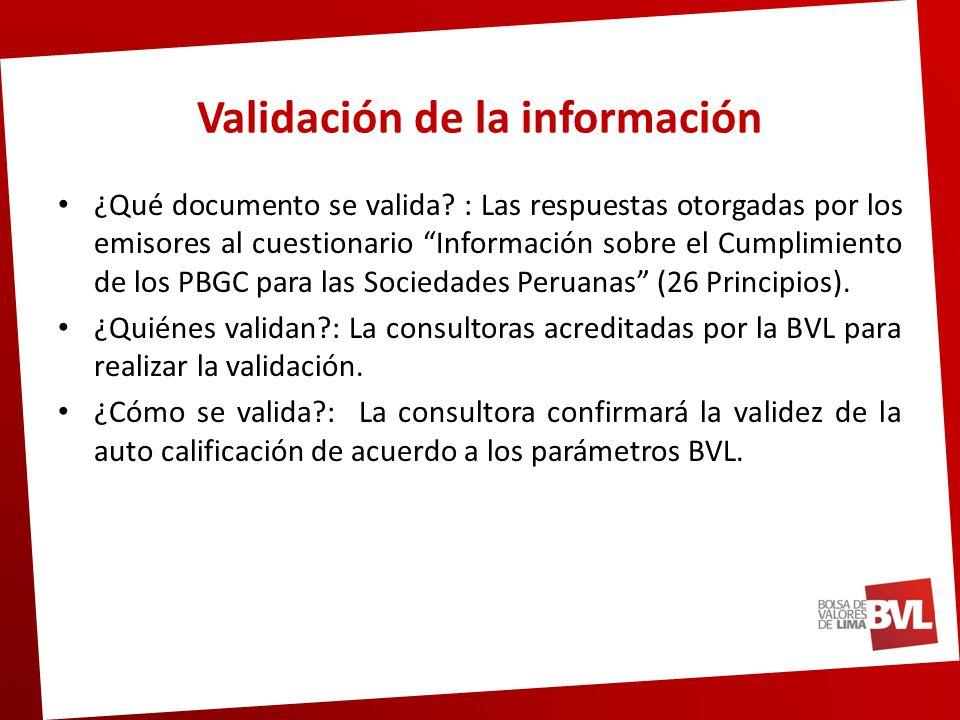 Validación de la información