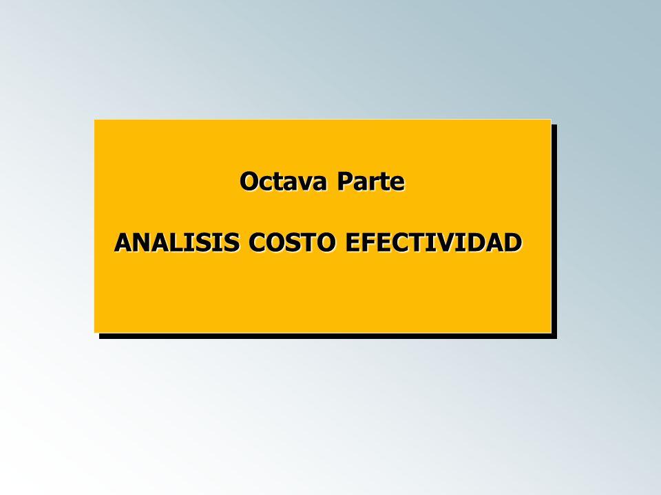 ANALISIS COSTO EFECTIVIDAD