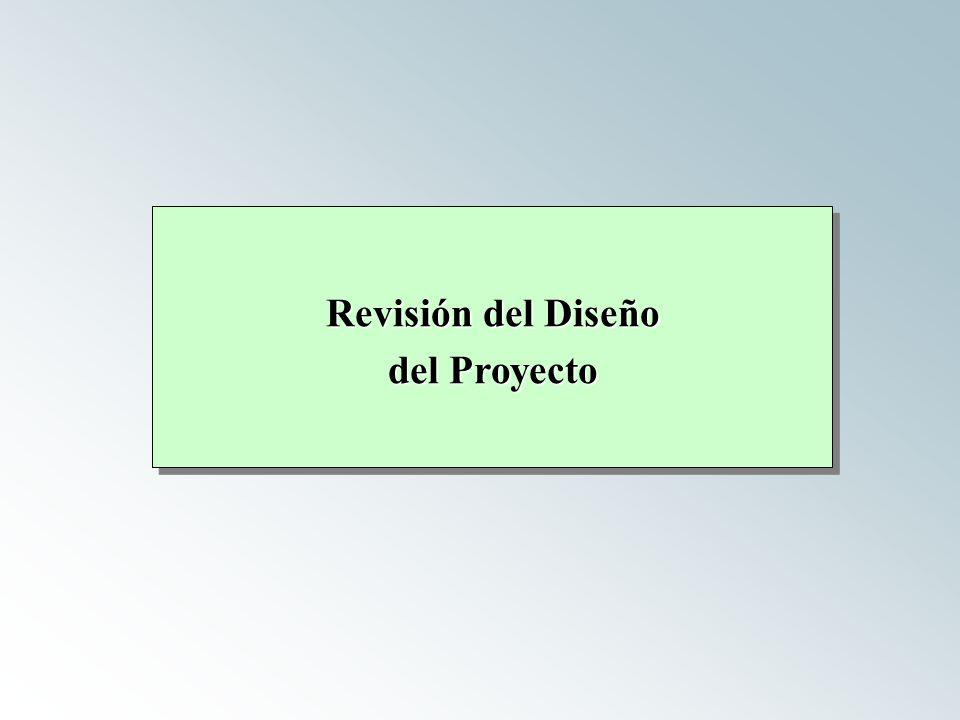 Revisión del Diseño del Proyecto