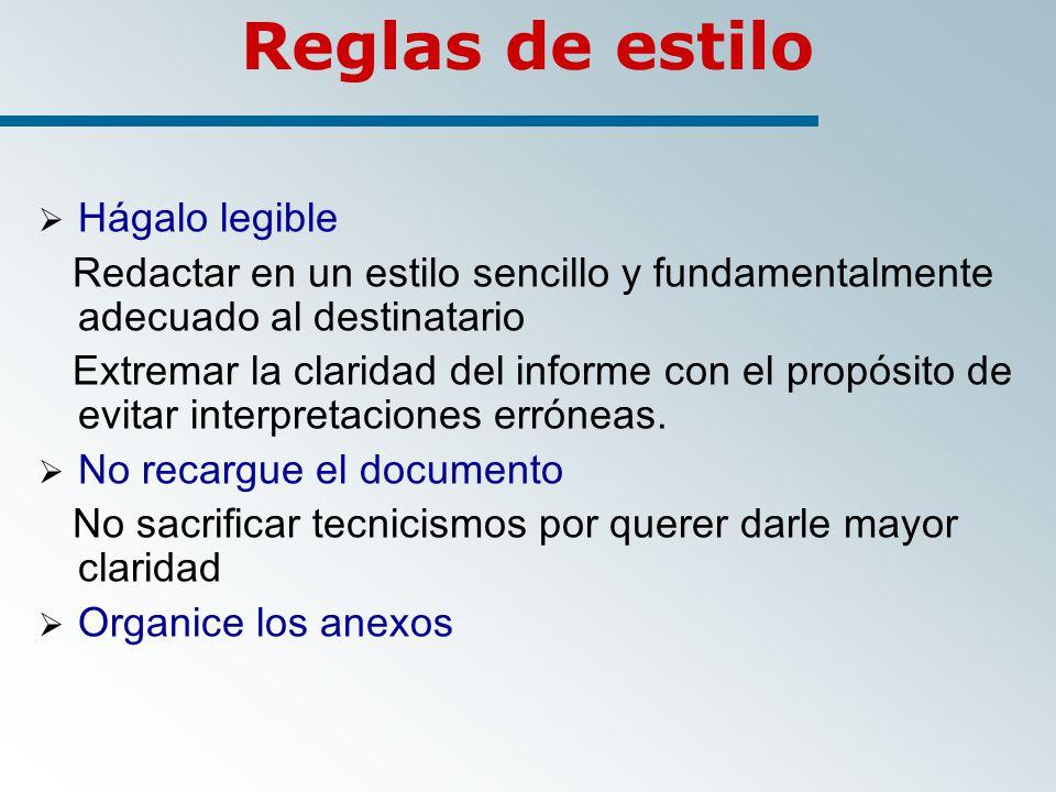 Reglas de estilo Hágalo legible