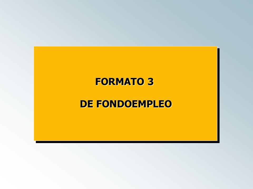 FORMATO 3 DE FONDOEMPLEO