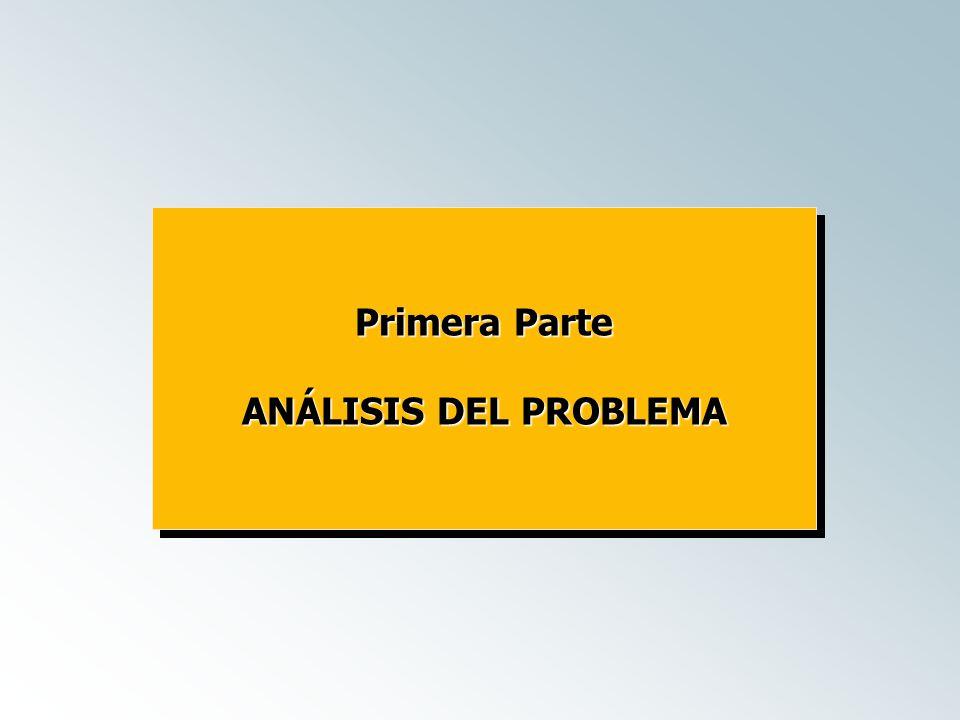 Primera Parte ANÁLISIS DEL PROBLEMA