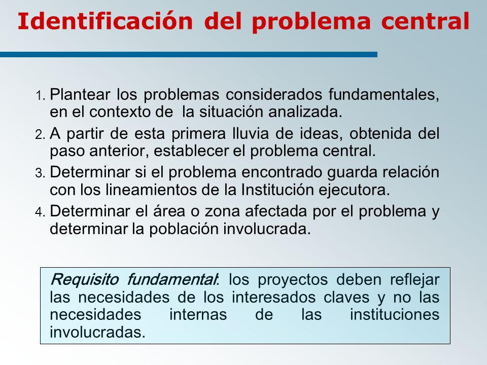 Identificación del problema central