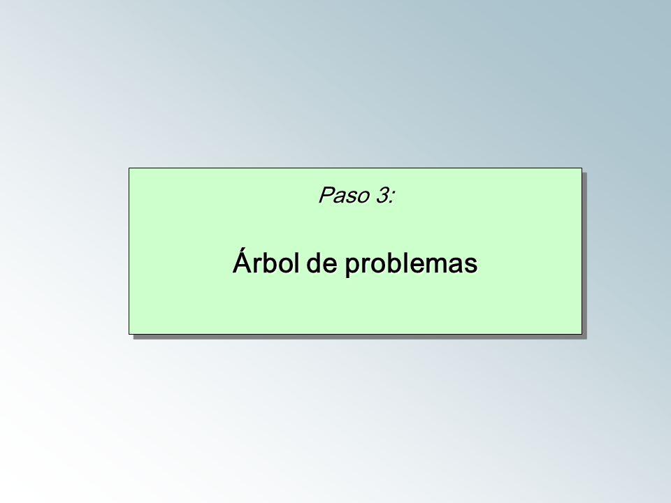 Paso 3: Árbol de problemas