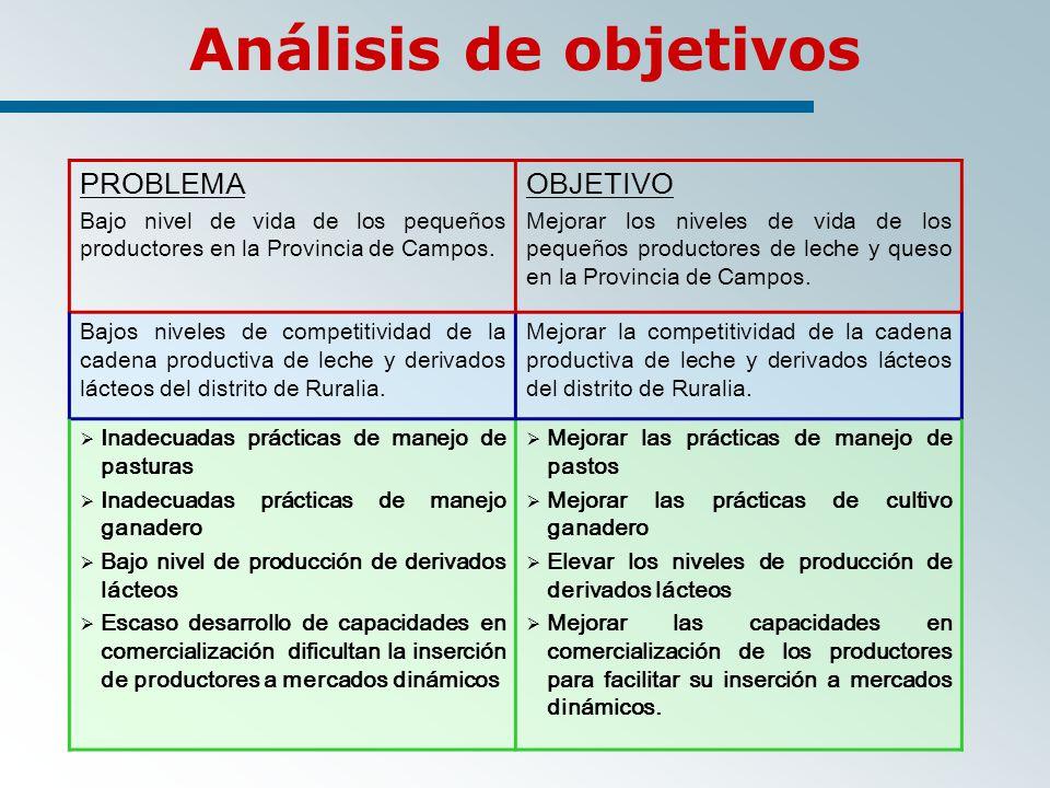 Análisis de objetivos PROBLEMA OBJETIVO