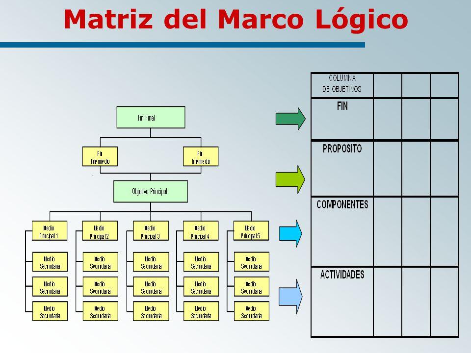 Matriz del Marco Lógico