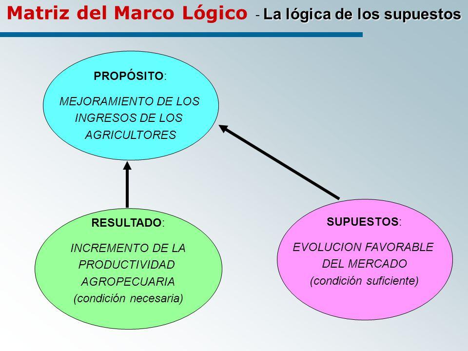 Matriz del Marco Lógico - La lógica de los supuestos