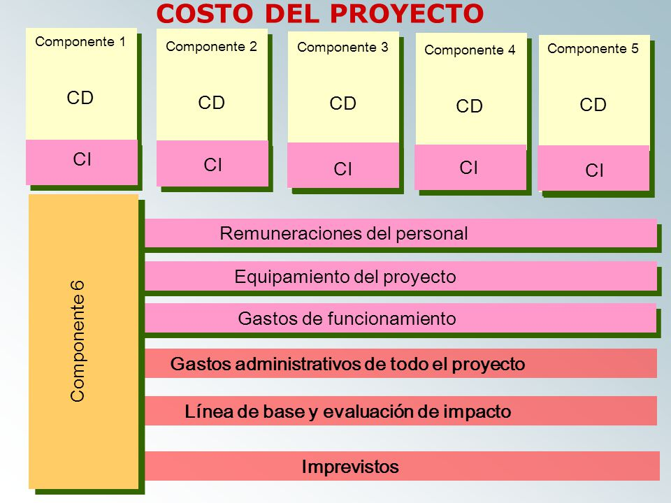 COSTO DEL PROYECTO CD CD CD CD CD CI CI CI CI CI