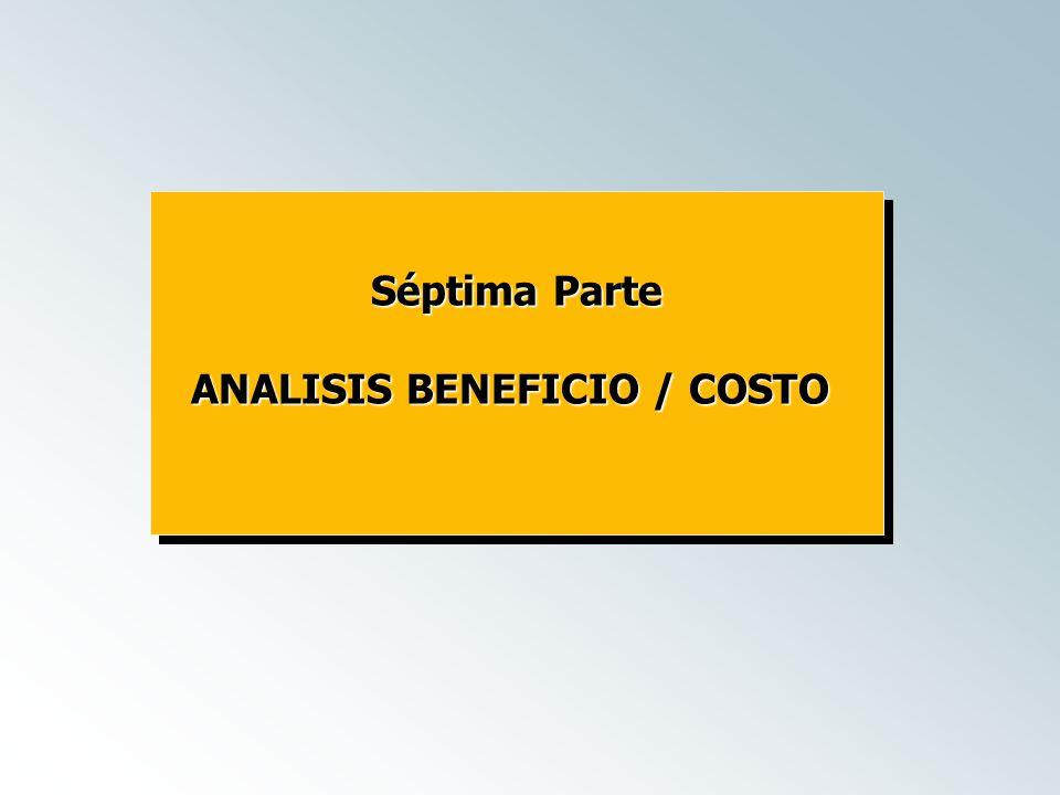 ANALISIS BENEFICIO / COSTO