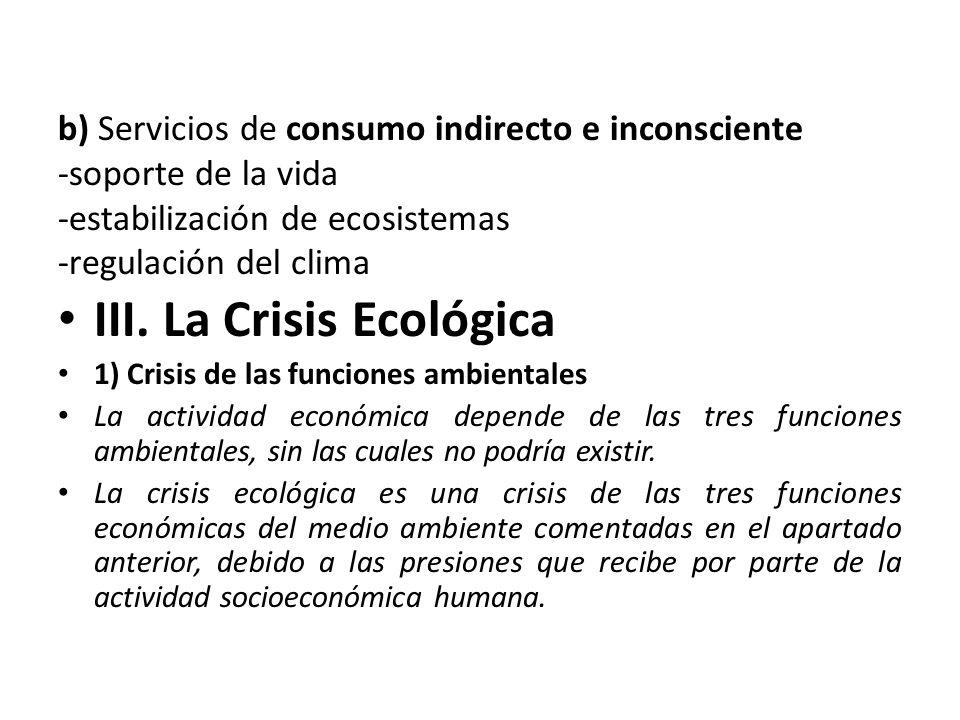 III. La Crisis Ecológica