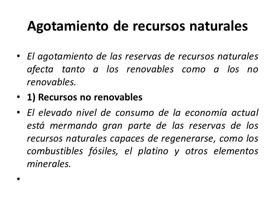 Agotamiento de recursos naturales