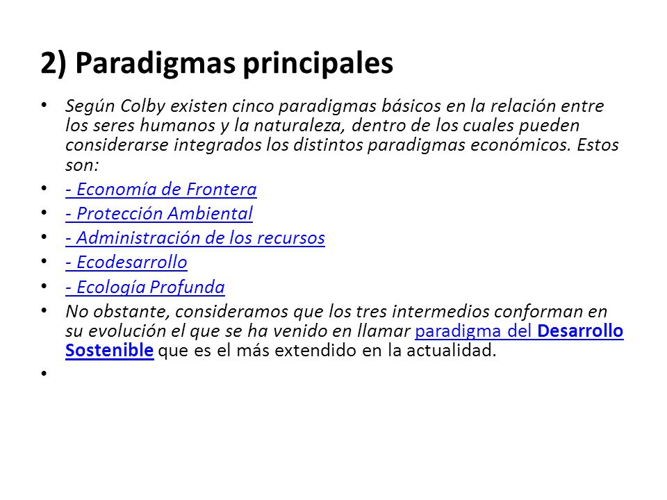 2) Paradigmas principales