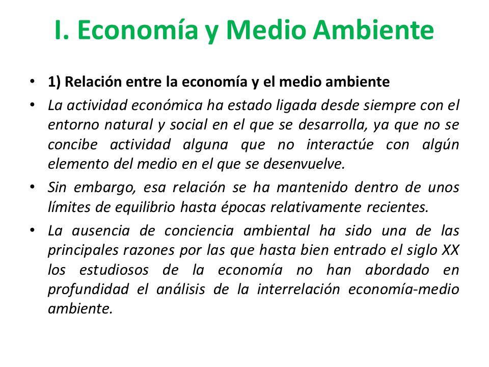 I. Economía y Medio Ambiente