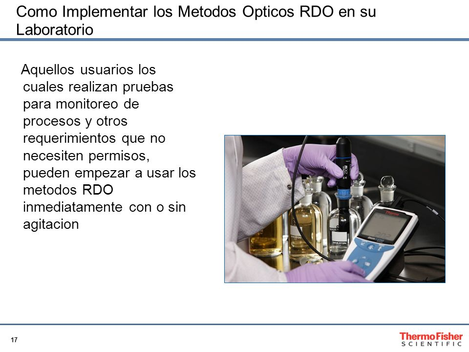 Como Implementar los Metodos Opticos RDO en su Laboratorio