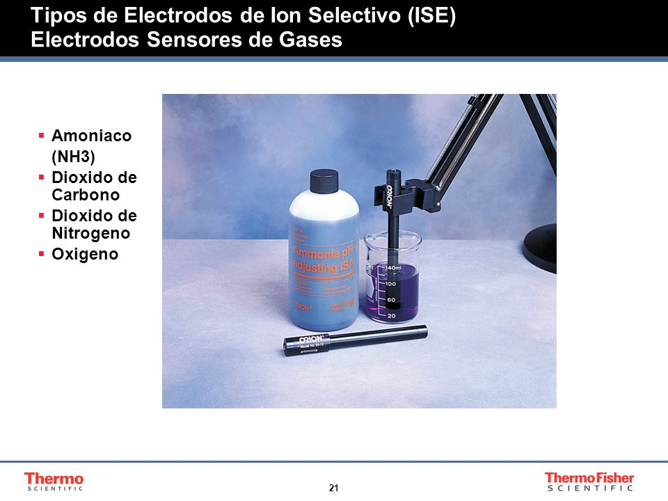 Tipos de Electrodos de Ion Selectivo (ISE) Electrodos Sensores de Gases