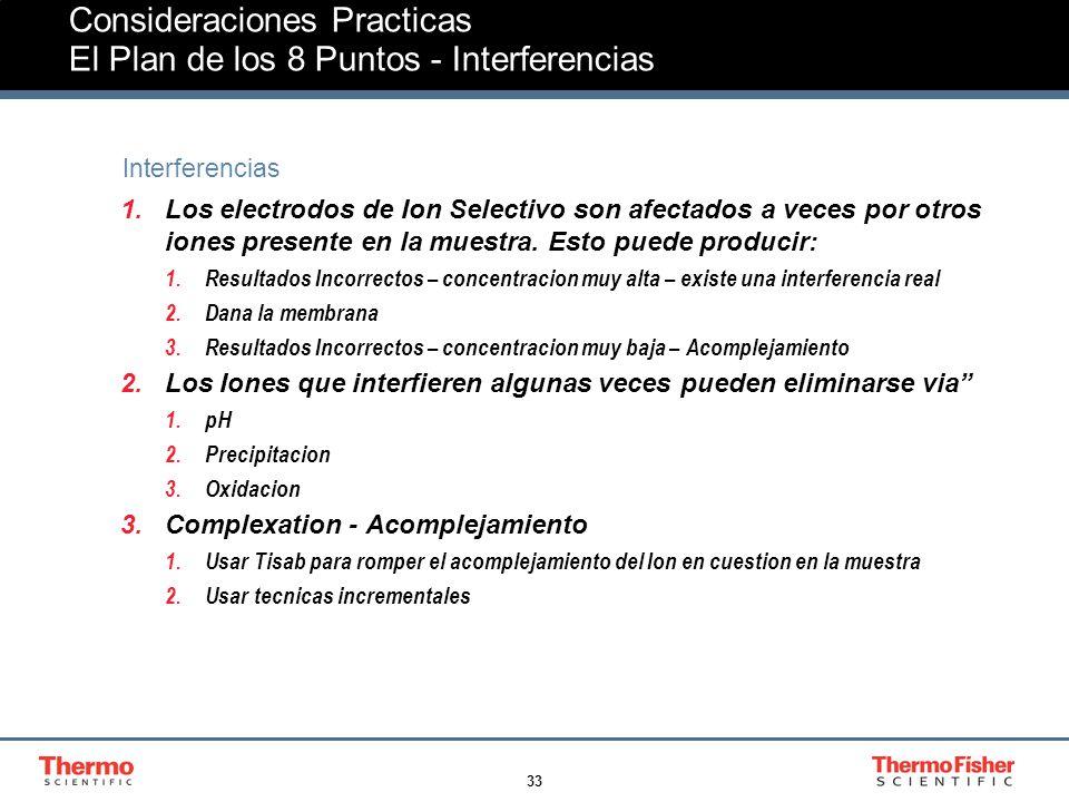 Consideraciones Practicas El Plan de los 8 Puntos - Interferencias