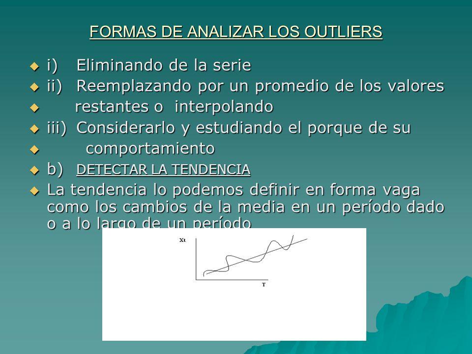 FORMAS DE ANALIZAR LOS OUTLIERS