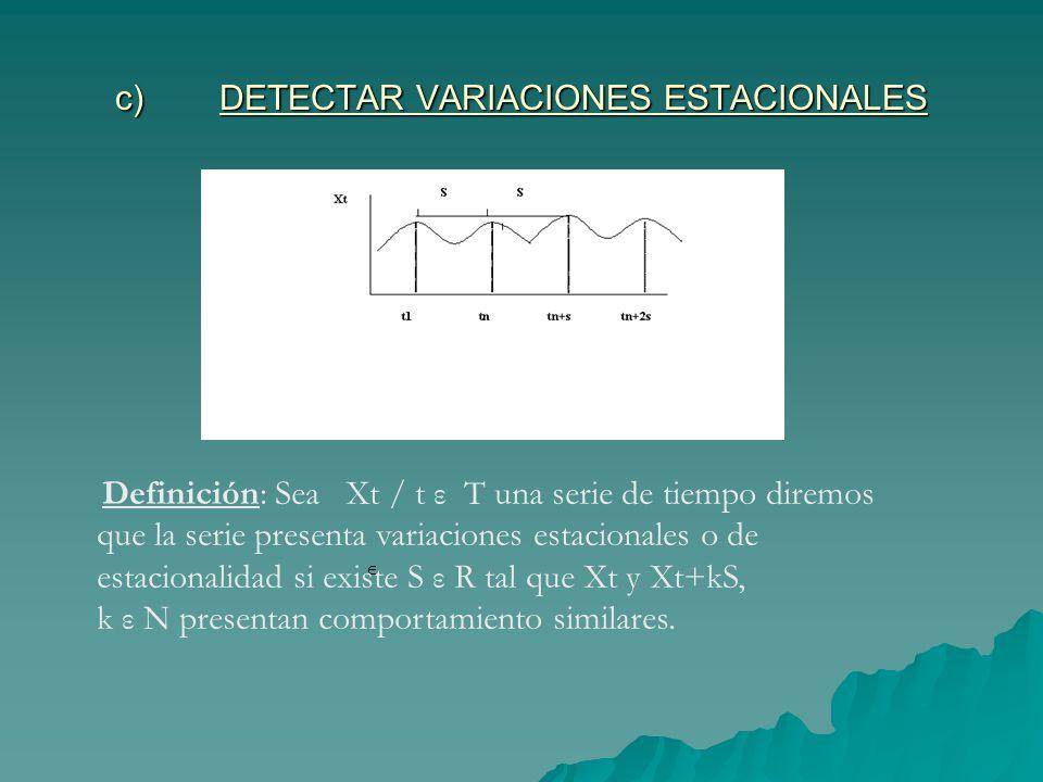 c) DETECTAR VARIACIONES ESTACIONALES