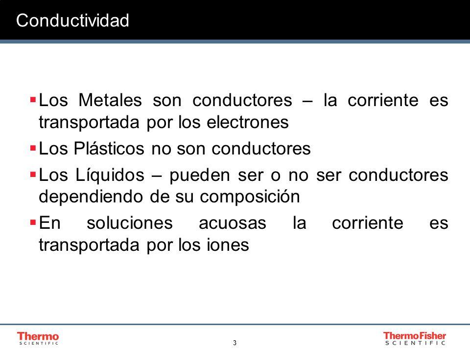 Conductividad Los Metales son conductores – la corriente es transportada por los electrones. Los Plásticos no son conductores.