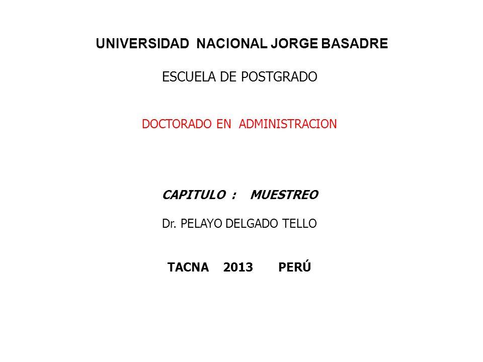 UNIVERSIDAD NACIONAL JORGE BASADRE