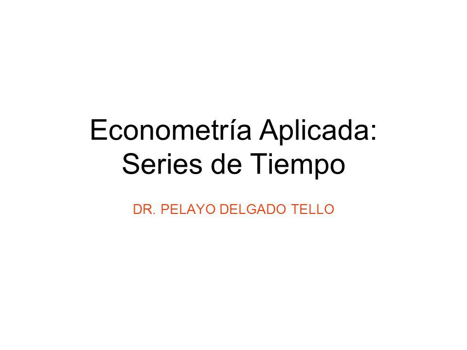 Econometría Aplicada: Series de Tiempo
