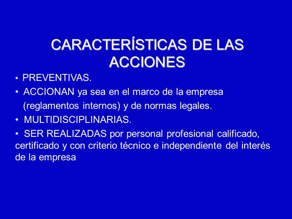 CARACTERÍSTICAS DE LAS ACCIONES
