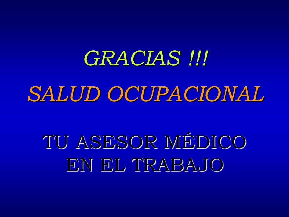 GRACIAS !!! SALUD OCUPACIONAL TU ASESOR MÉDICO EN EL TRABAJO 4/2/2017