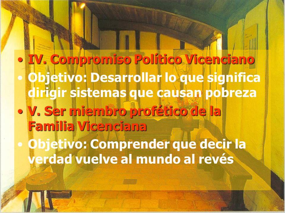 IV. Compromiso Político Vicenciano
