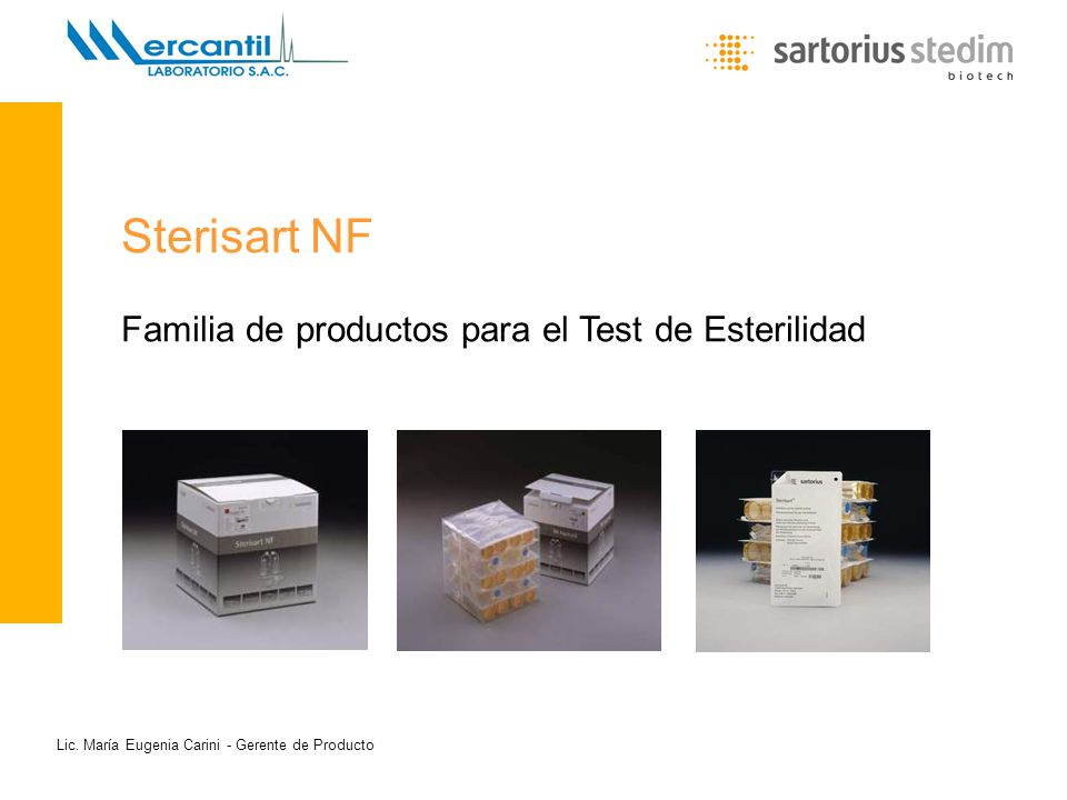 Sterisart NF Familia de productos para el Test de Esterilidad