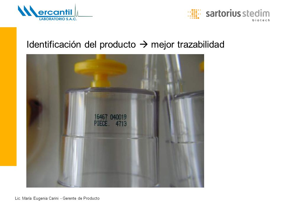 Identificación del producto  mejor trazabilidad