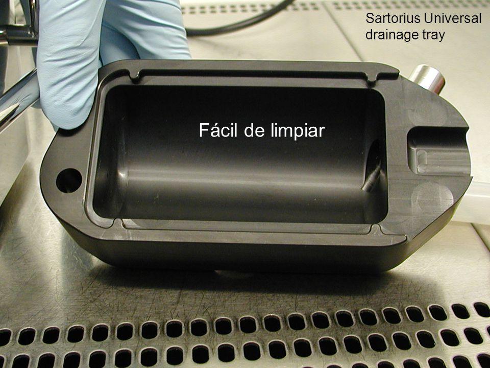 Sartorius Universal drainage tray Fácil de limpiar