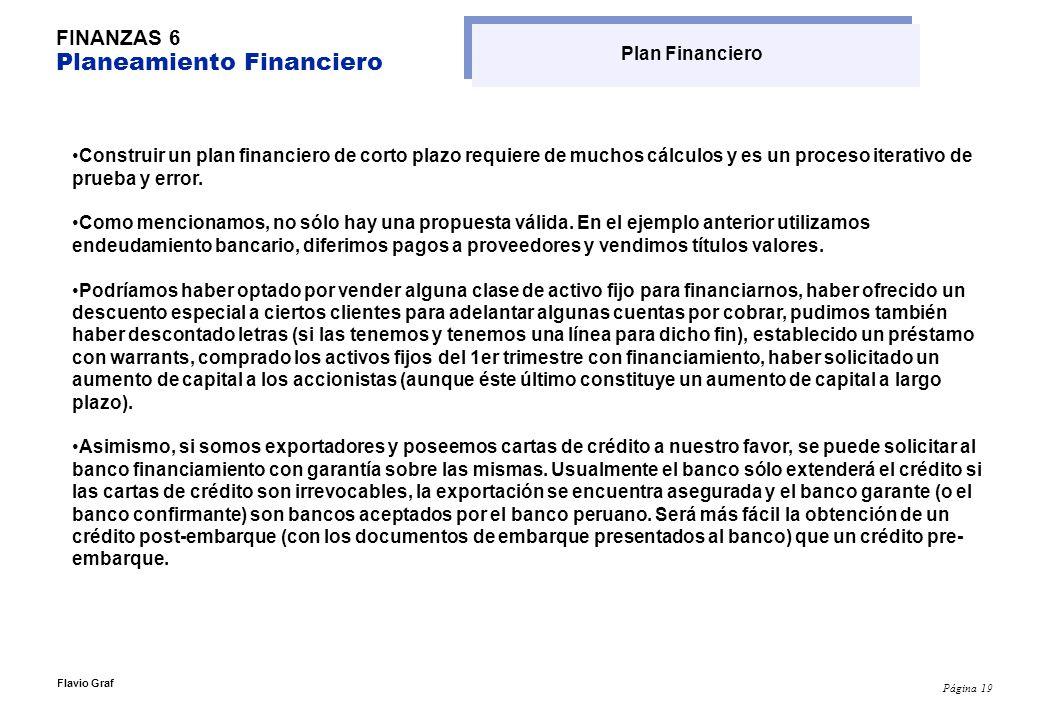 FINANZAS 6 Planeamiento Financiero