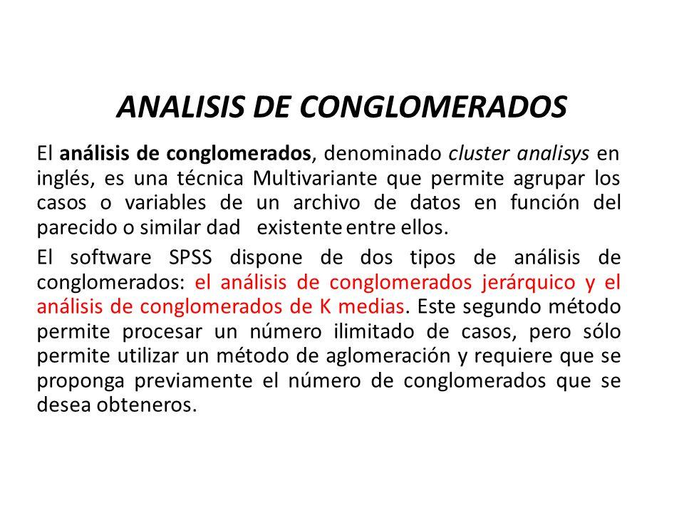 ANALISIS DE CONGLOMERADOS