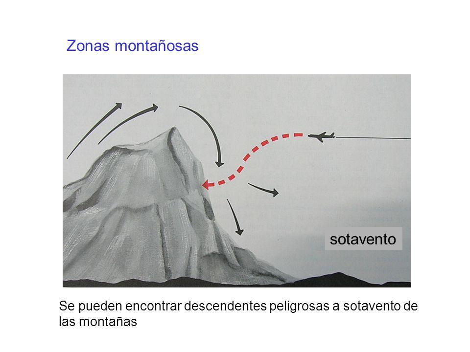 Zonas montañosas sotavento