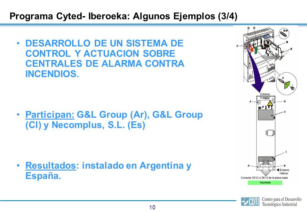 Programa Cyted- Iberoeka: Algunos Ejemplos (4/4)