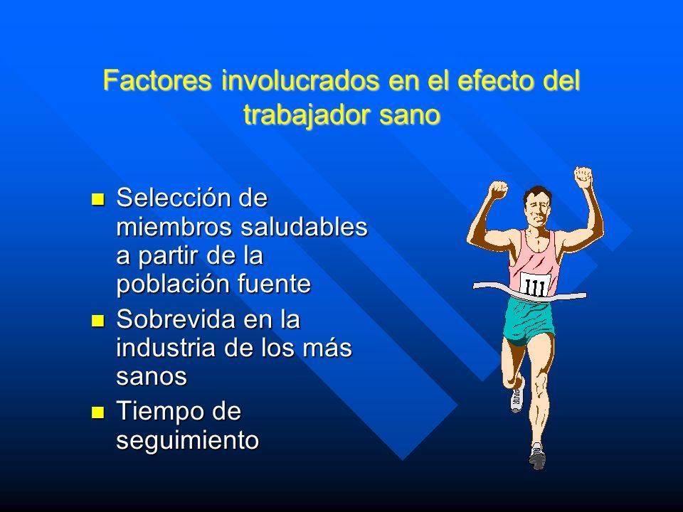 Factores involucrados en el efecto del trabajador sano