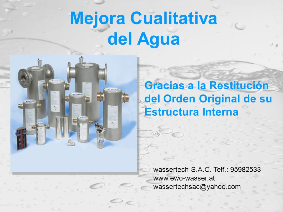 Mejora Cualitativa del Agua