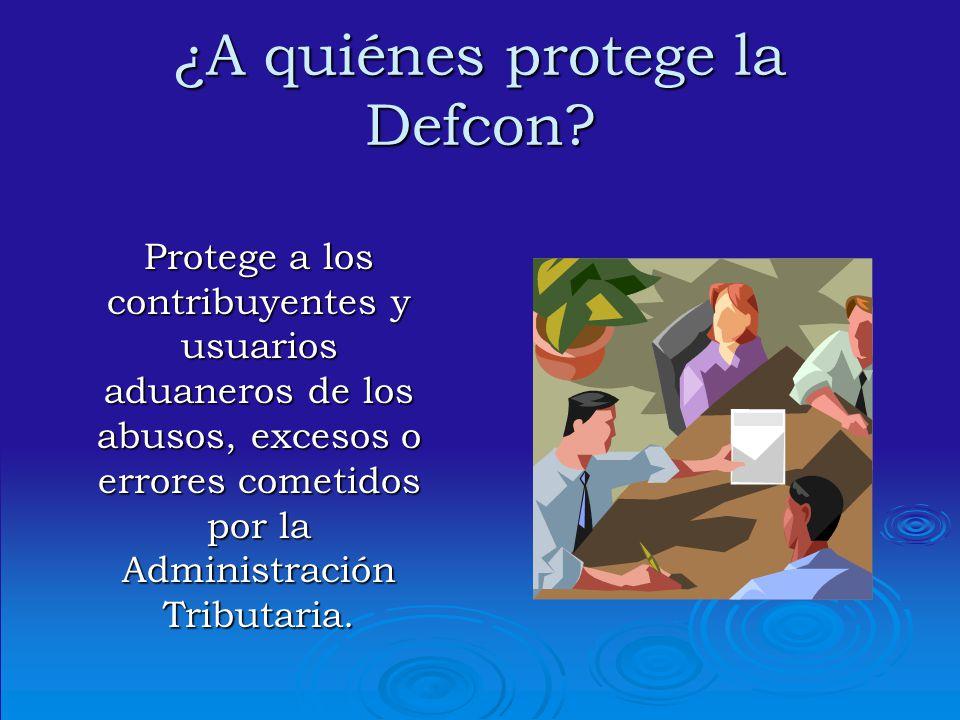 ¿A quiénes protege la Defcon