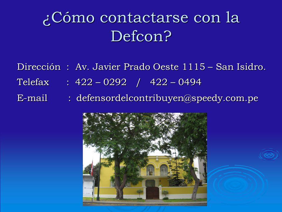 ¿Cómo contactarse con la Defcon