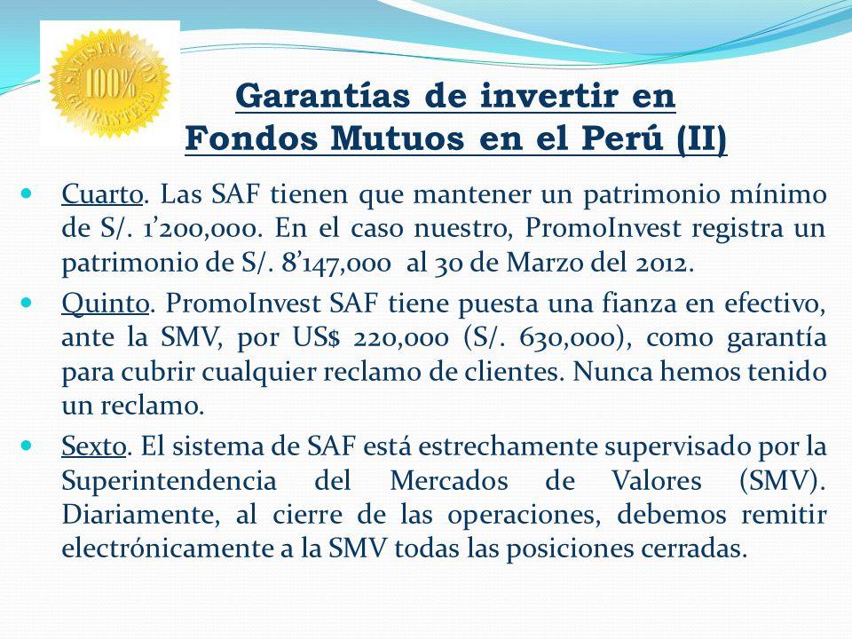 Garantías de invertir en Fondos Mutuos en el Perú (II)