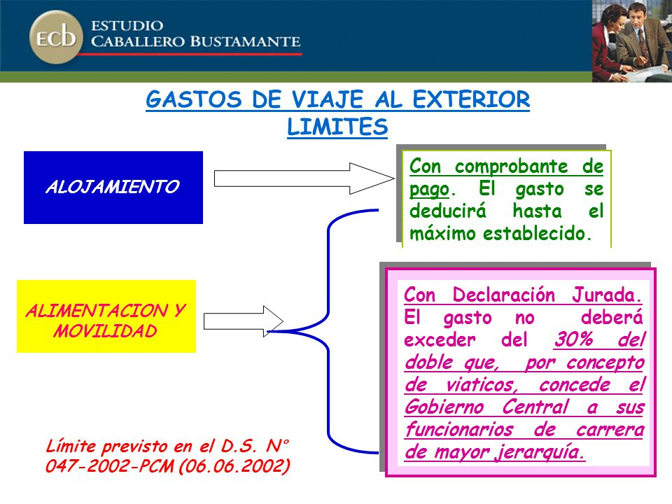 GASTOS DE VIAJE AL EXTERIOR LIMITES