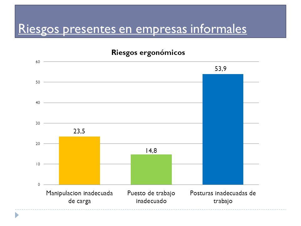 Riesgos presentes en empresas informales