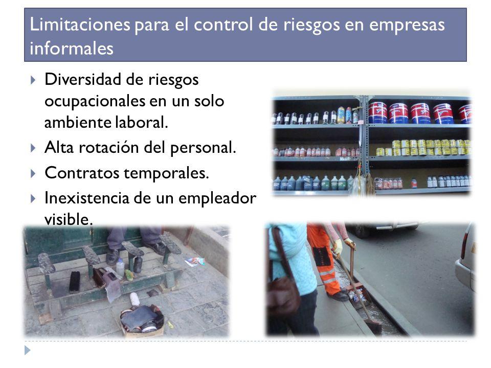 Limitaciones para el control de riesgos en empresas informales