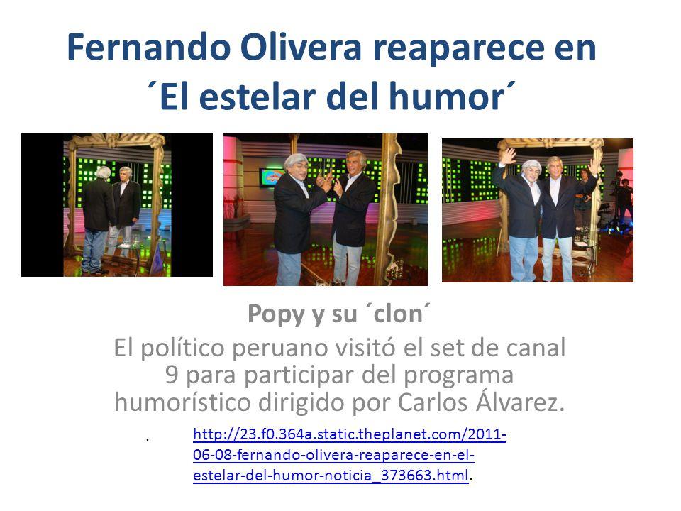 Fernando Olivera reaparece en ´El estelar del humor´