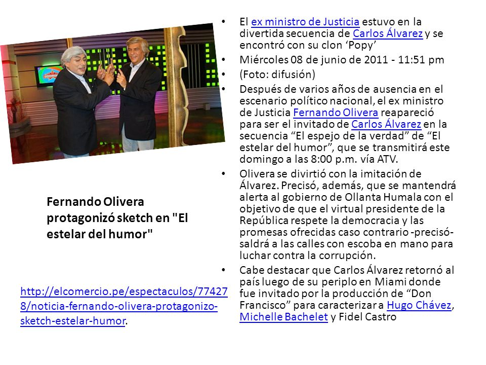Fernando Olivera protagonizó sketch en El estelar del humor
