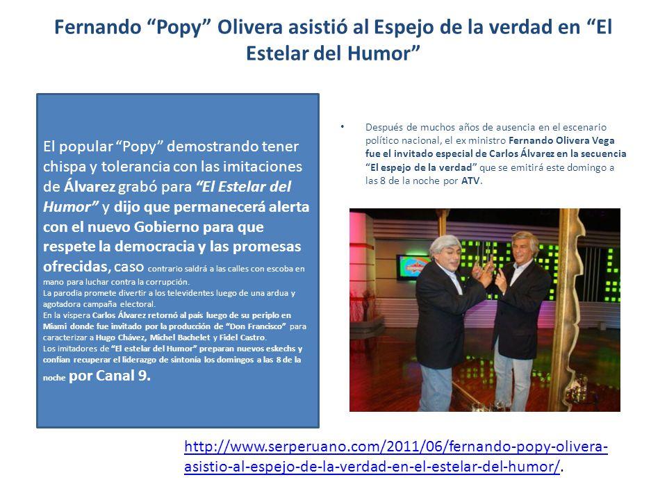 Fernando Popy Olivera asistió al Espejo de la verdad en El Estelar del Humor