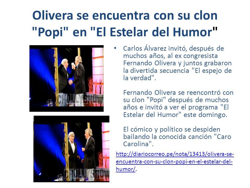 Olivera se encuentra con su clon Popi en El Estelar del Humor