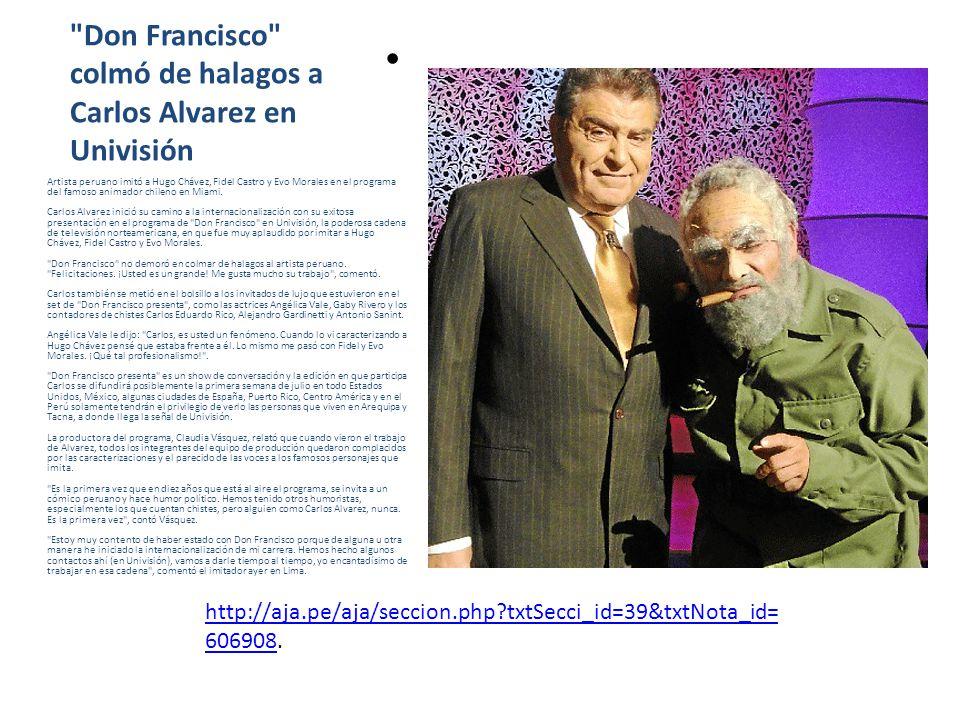 Don Francisco colmó de halagos a Carlos Alvarez en Univisión
